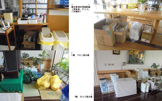 ③感染防止の物品の確認・準備