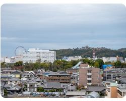 8階、展望風呂からの眺め
